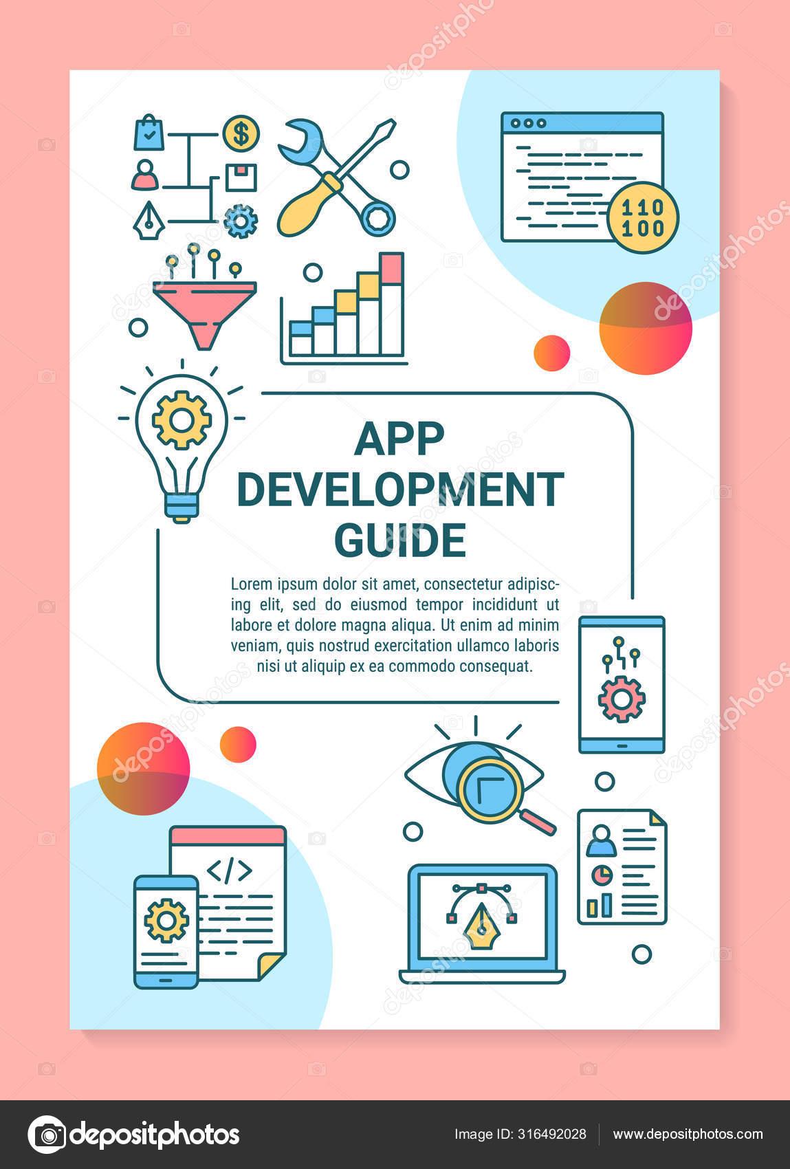 App Development Guide Poster Template Layout Software Framework Design Guidance Stock Vector C Bsd 316492028