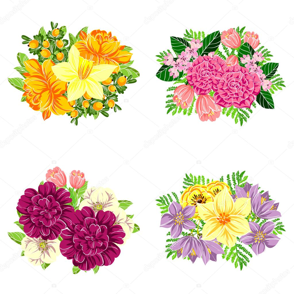 adorno de flores Vector de stock AllaboutFlowers 128318906