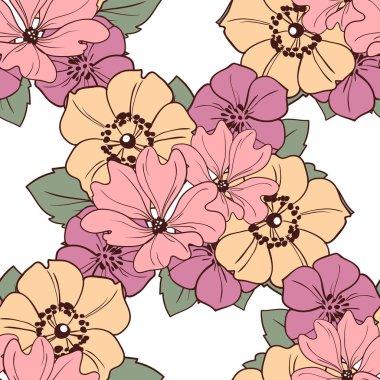 beautiful flowers ornament