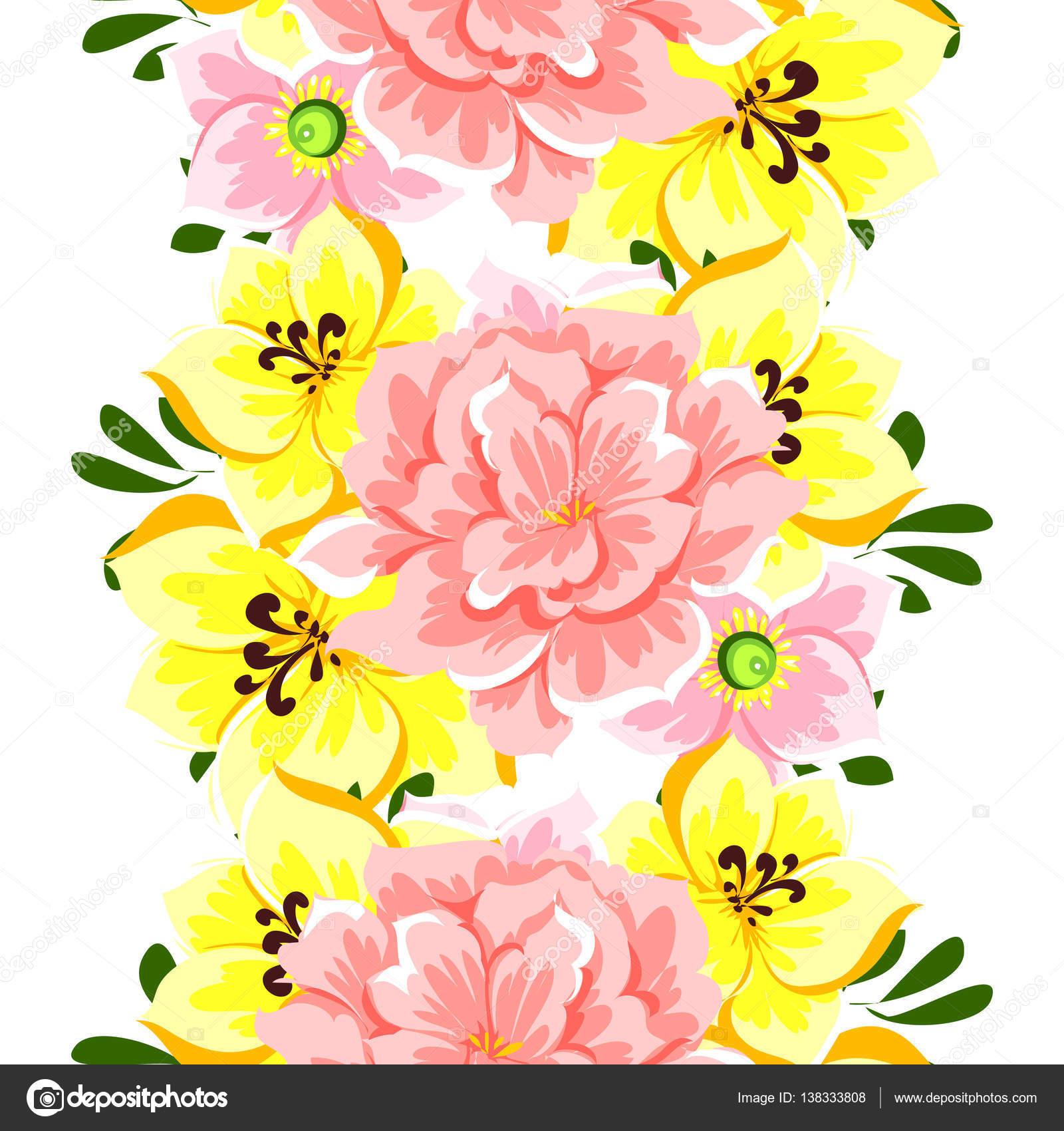 Beautiful flowers ornament stock vector all about flowers 138333808 vector illustration of beautiful flowers ornament for postcard vector by all about flowers izmirmasajfo