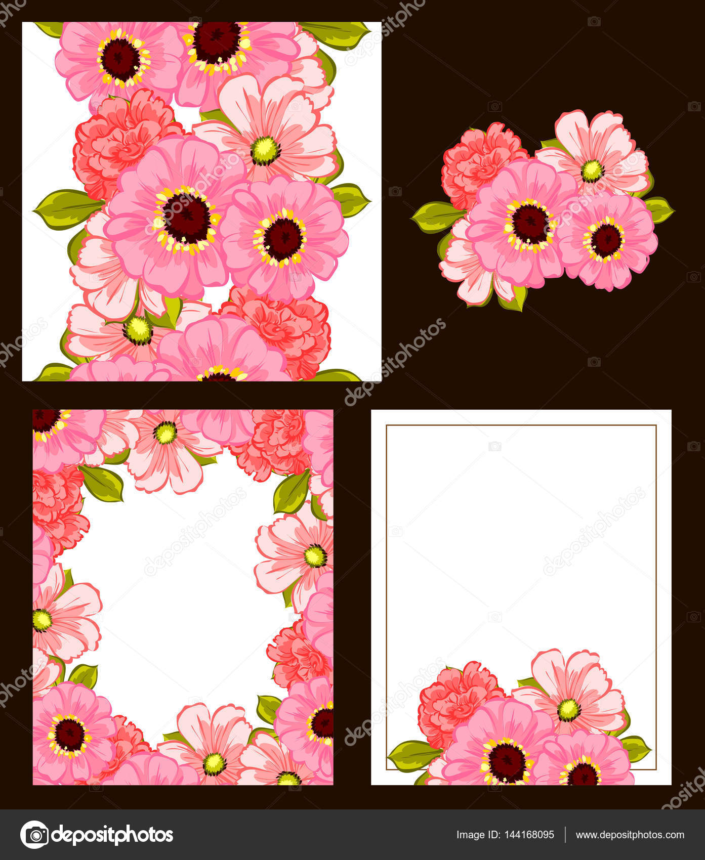 Romantic Invitation Backgrounds Stock Vector C All About Flowers