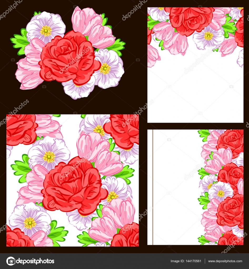 Romantic invitation backgrounds — Stock Vector © All-about-Flowers ...