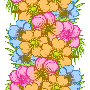 Seamless watercolor flower pattern