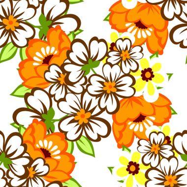 Seamless watercolor flower pattern