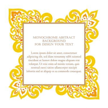 Monochrome abstract art invitation card