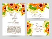 květinový svatební pozvánky