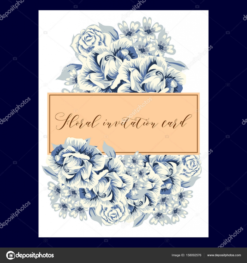Vintage floral invitation card vetor de stock all about flowers vintage floral invitation card vetor de stock stopboris Choice Image