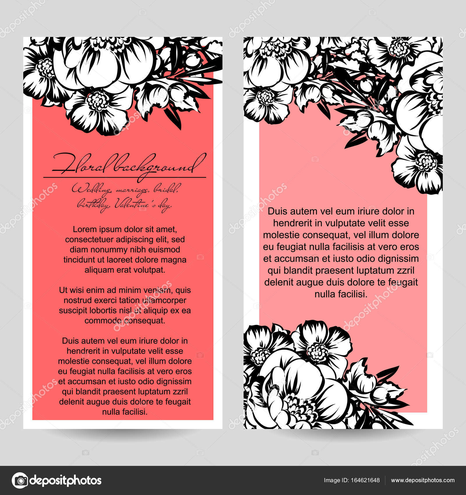 Vintage floral wedding invitation card — Stock Vector © All-about ...