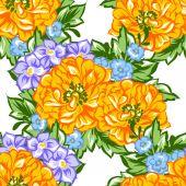 vzor bezešvé květiny