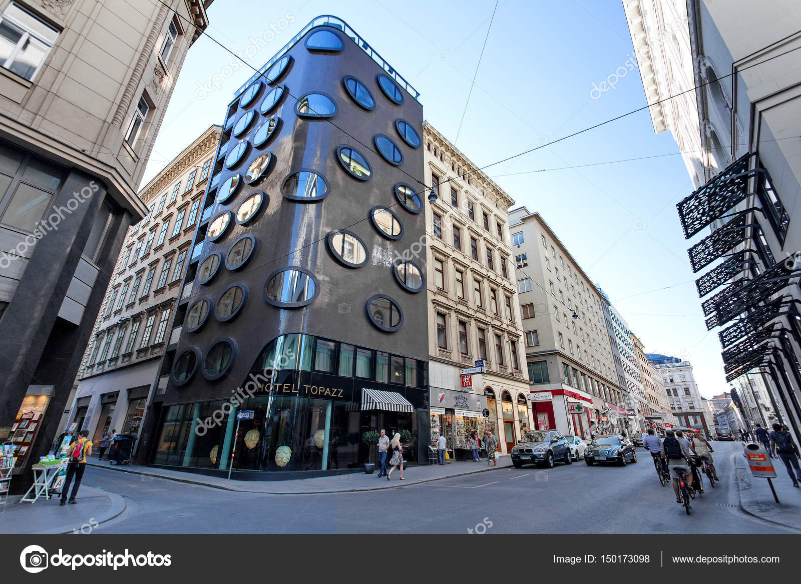 Modern Buildings Part - 38: Architecture - Historical And Modern Buildings In The Center Of Vienna,  Austria U2014 Stock Photo