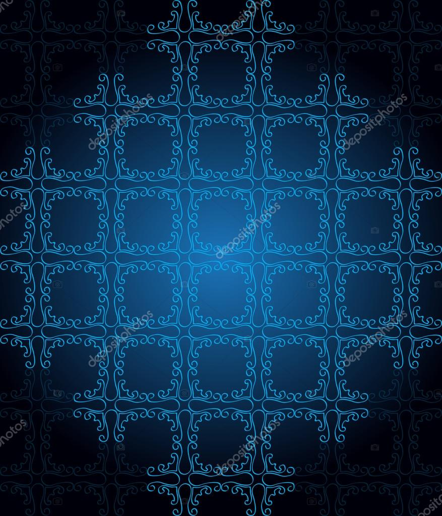 Seamlessly Wallpaper With Dark Blue Color Tones Stock Vector