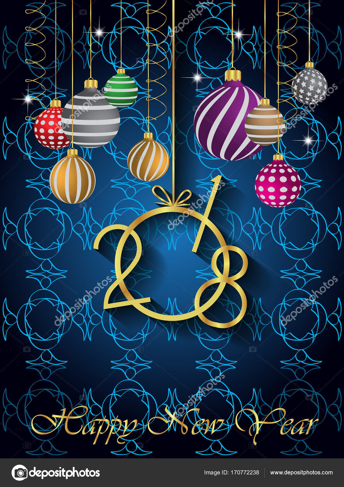 2018 happy new year background for your seasonal flayer and greetings card vector by plutonii