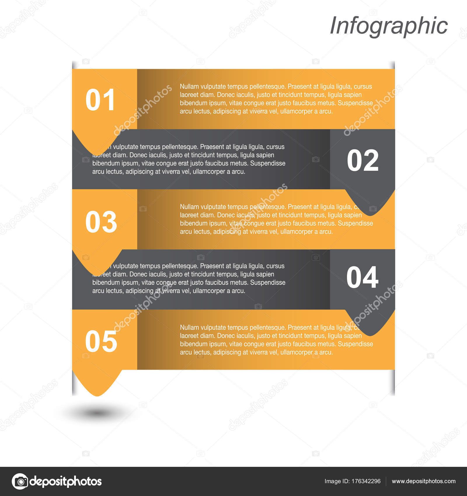 Banners Diseño Plantilla Infografía Para Diseño Web — Vector de ...