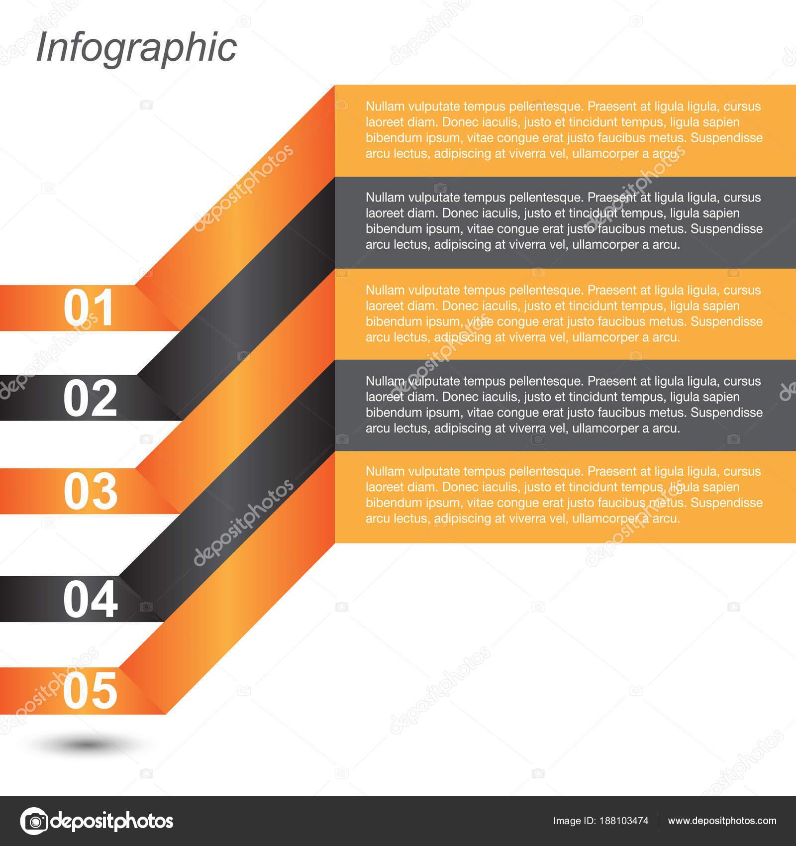 Plantilla Diseño Información Gráfica Idea Para Mostrar Las ...