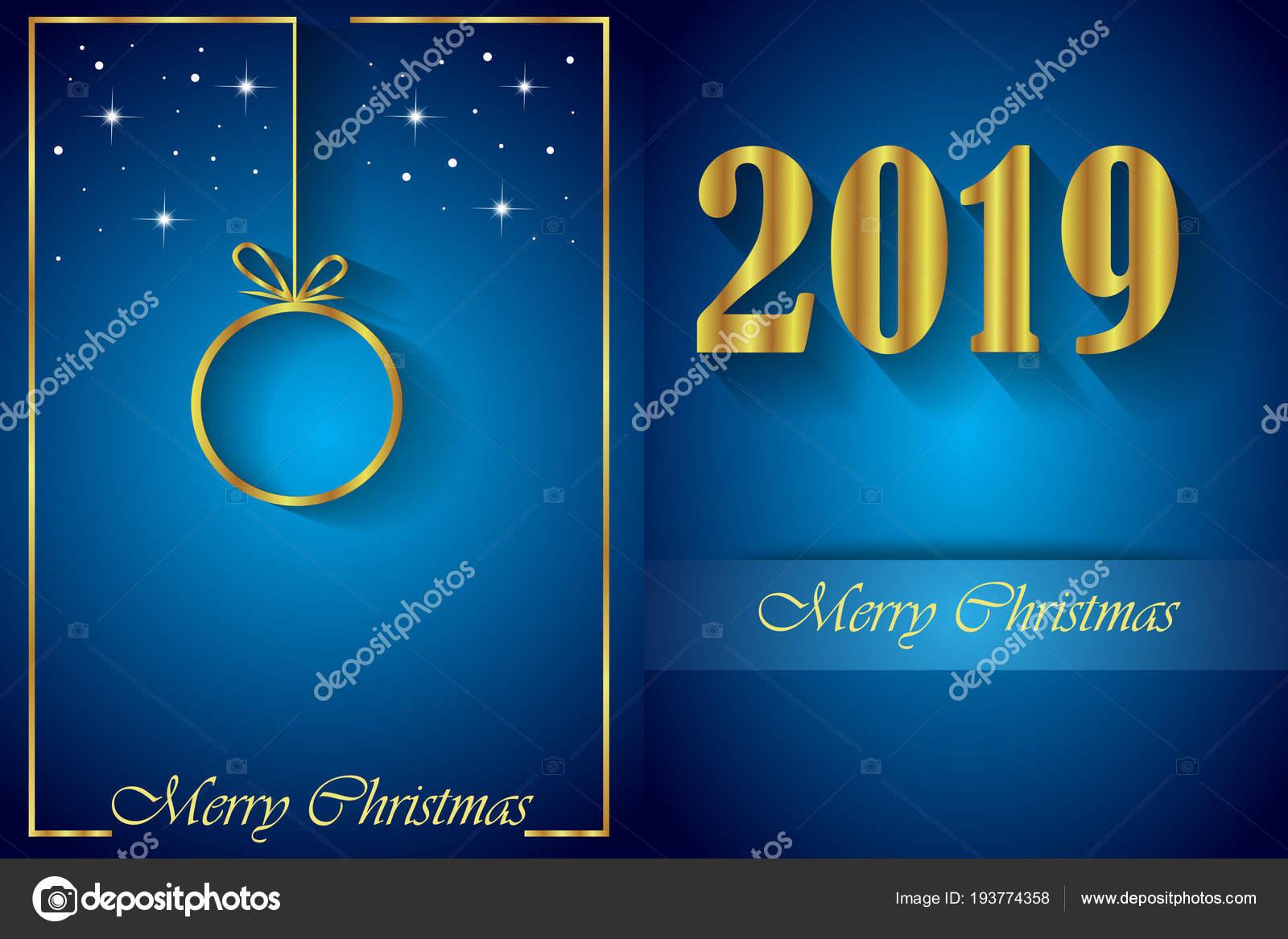 2019 Wesołych świąt Bożego Narodzenia Tło Dla Zaproszenia Plakaty