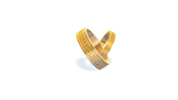 Zlatý snubní prsten animace