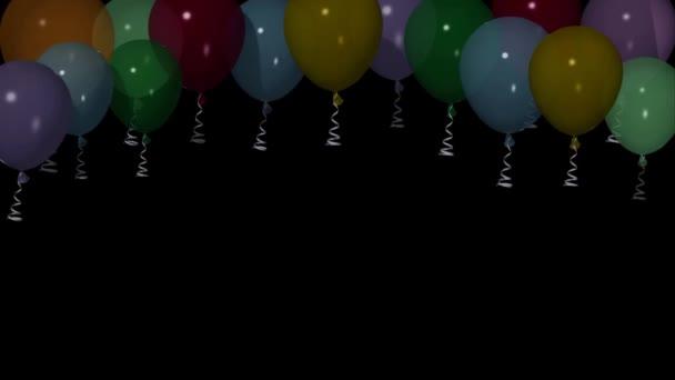A felső, 3d animáció, alfa szereplő hőlégballonok.