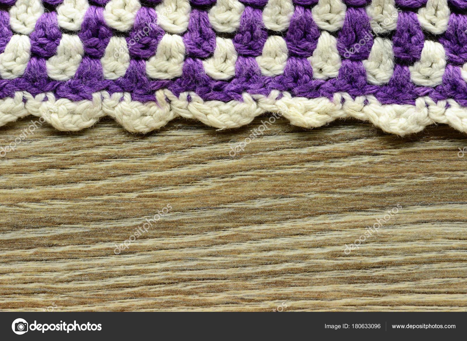 Textur der handgefertigten Ofen Tuch häkeln — Stockfoto © lcrms7 ...
