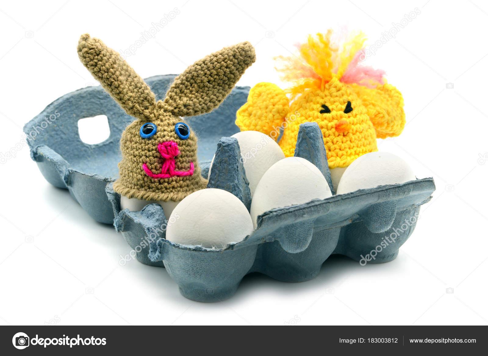Ostern Eiern Box Mit Häkeln Ei Tasse Tischplatten Aus Huhn Und