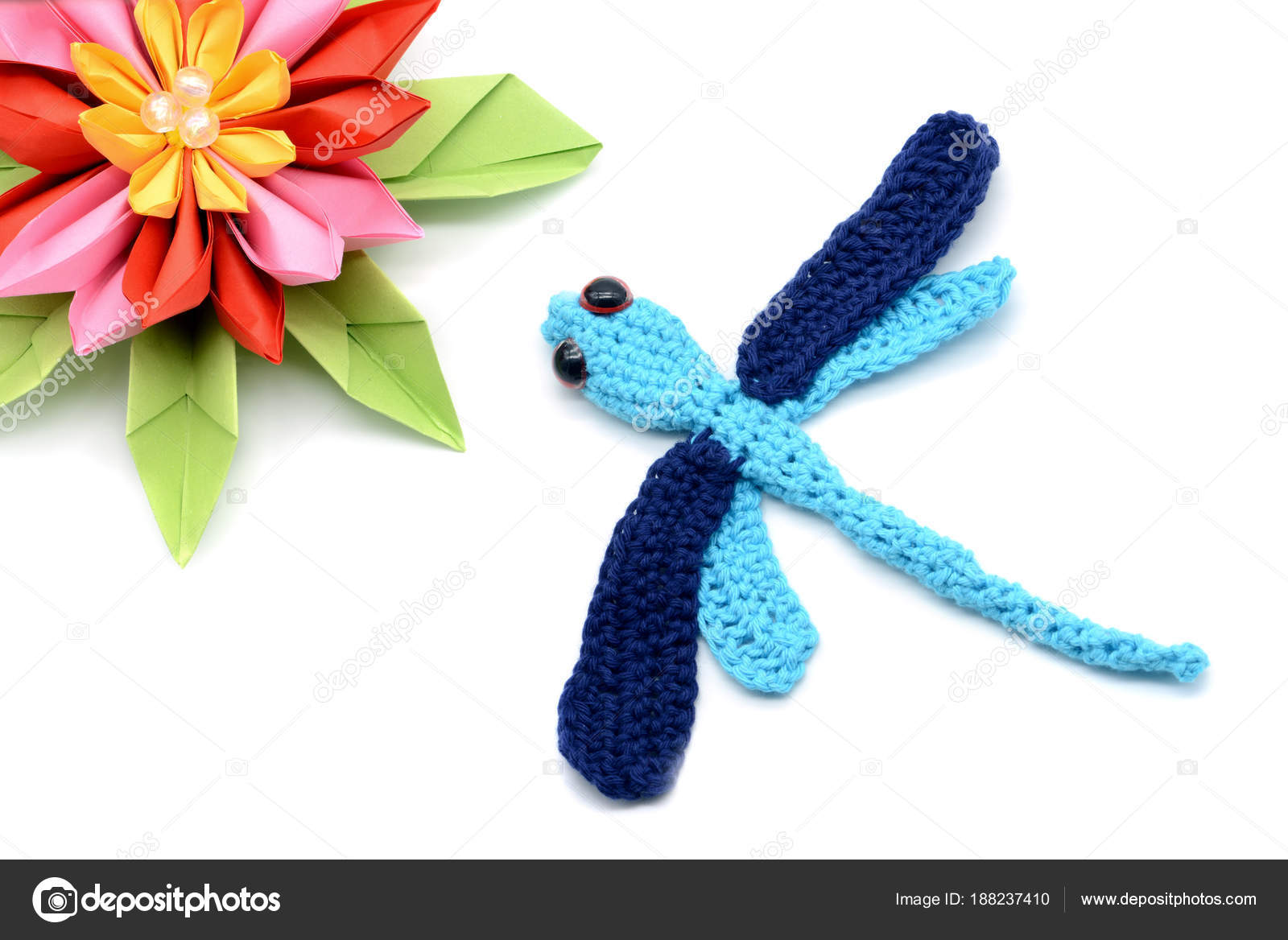 Basteln Mit Wolle Und Papier Eine Häkeln Drachen Fliegen Und Papier