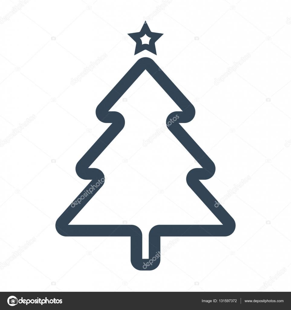 Symbol Weihnachtsbaum.Symbol Weihnachtsbaum Vektor Stockvektor Balagur 131597372