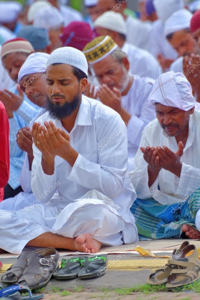 インドのイスラム教徒は、イードを祝う — ストック写真