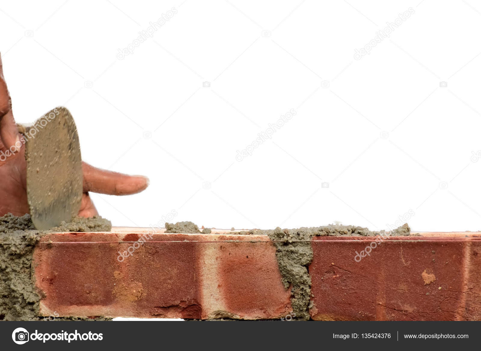 Costruire Un Muro Di Mattoni Foto Stock Sbhaumik 135424376