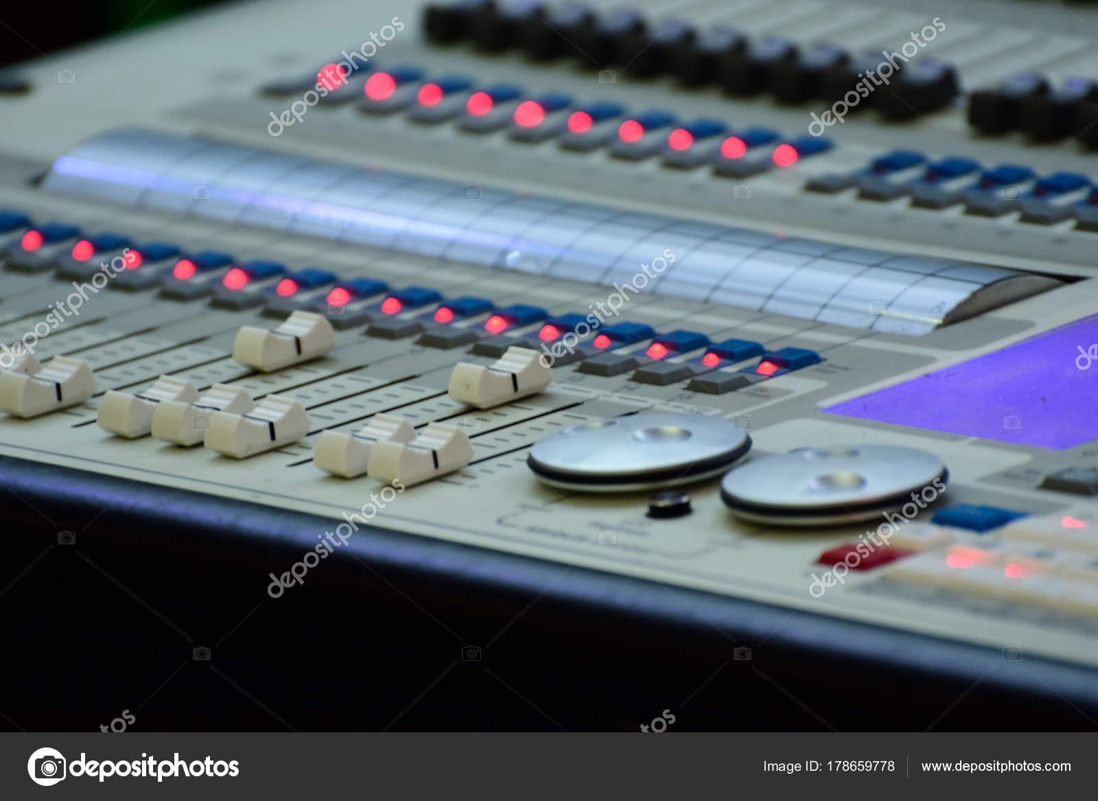 Close Professional Digital Sound Mixer — Stock Photo