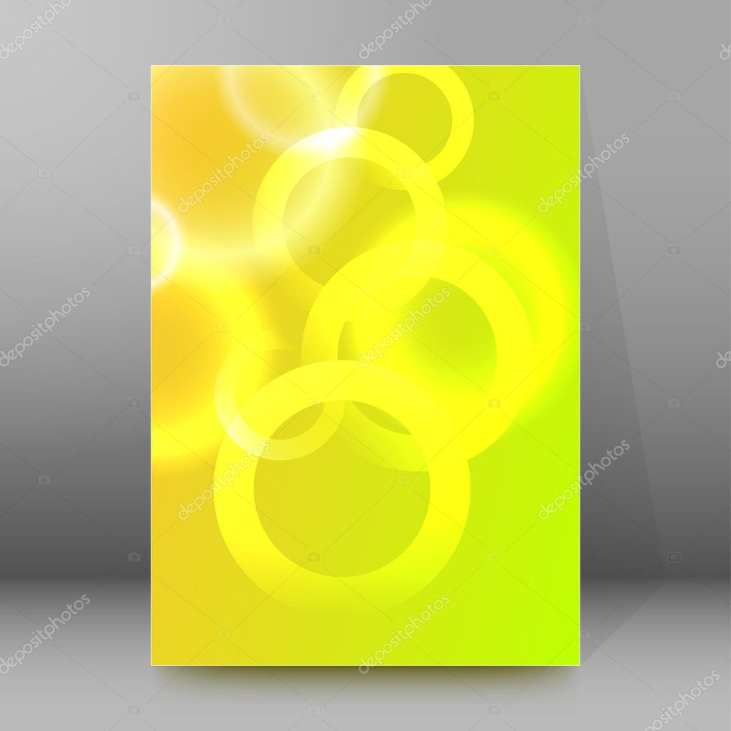 background report brochure cover pages a4 style abstract glow32