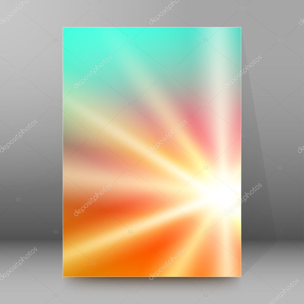 background report brochure cover pages a4 style abstract glow89