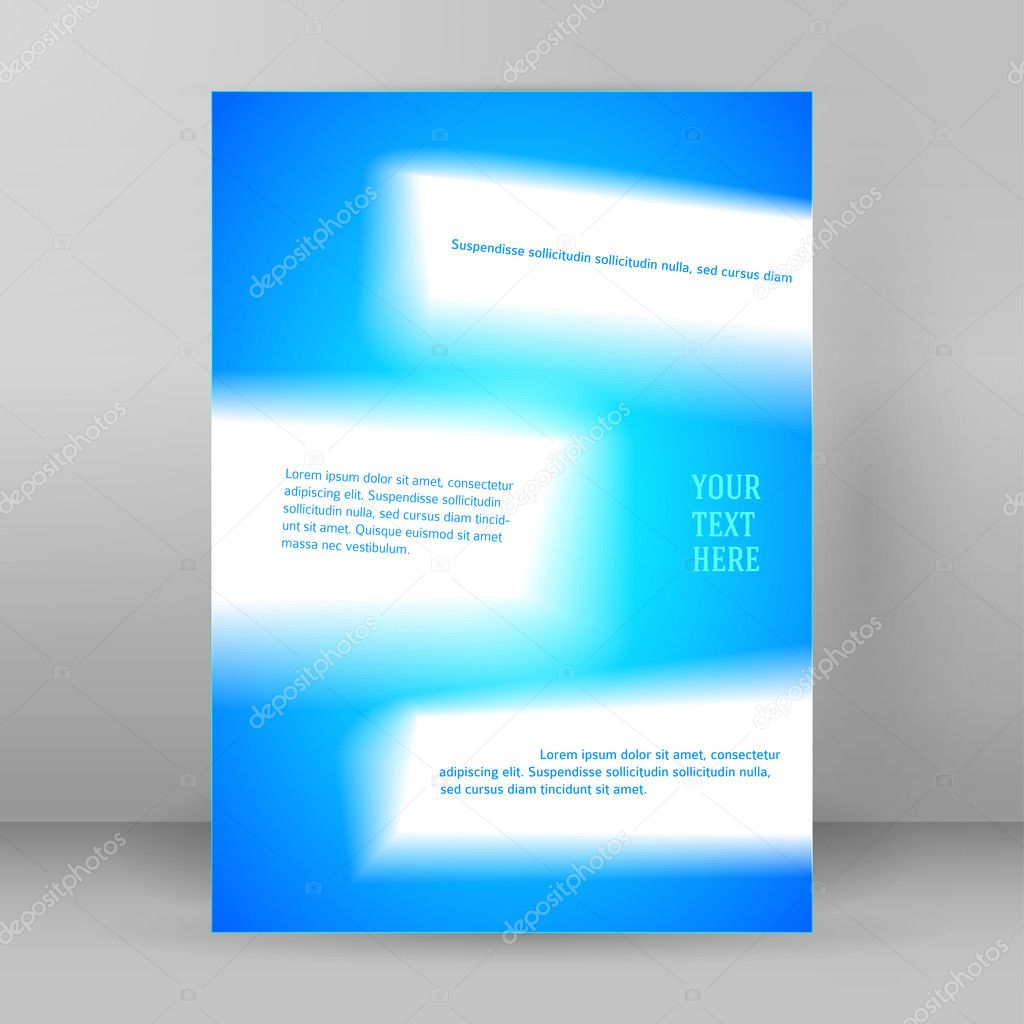 abstract background page booklet format a4 blur stock vector