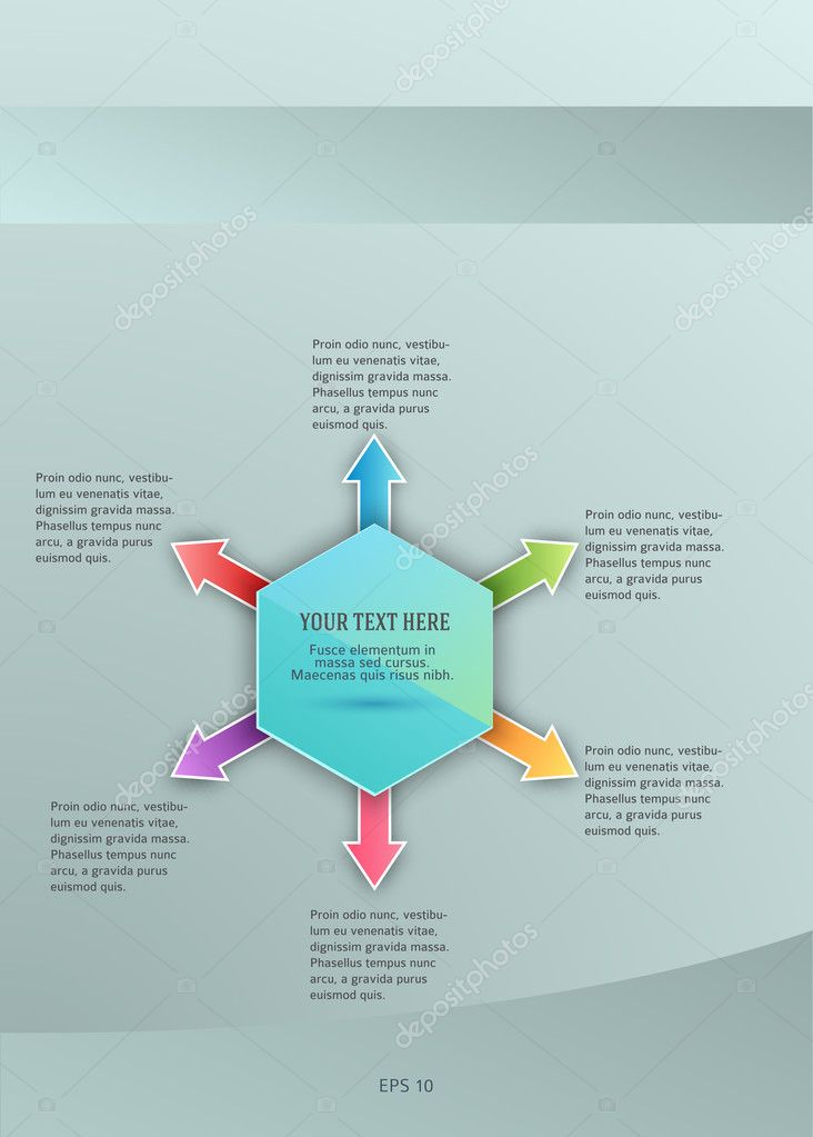 design element template presentation guide10 ストックベクター