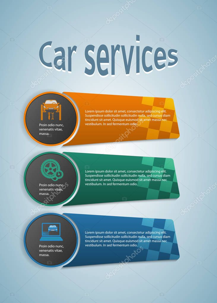 car repair services of cars presentation booklet01 — stock vector, Presentation Template Automobile, Presentation templates