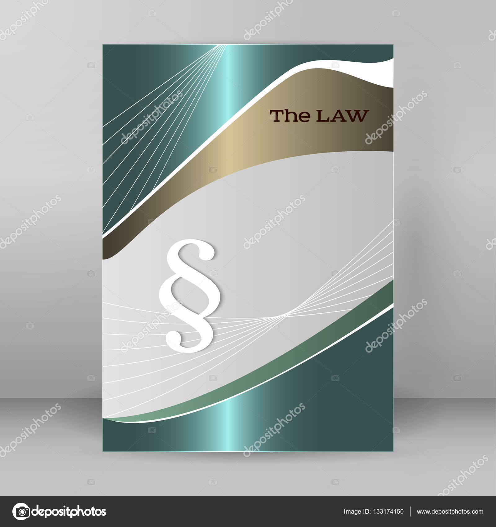 Brochure Cover Page Legal Report Luster Metal Arrow Stock Vector - Law firm brochure template