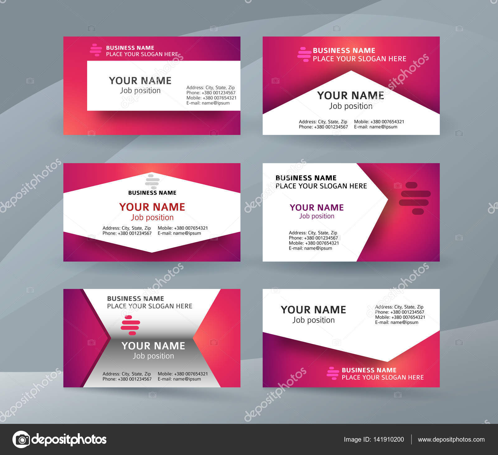 set template business card layout sided01 — Stock Vector ...