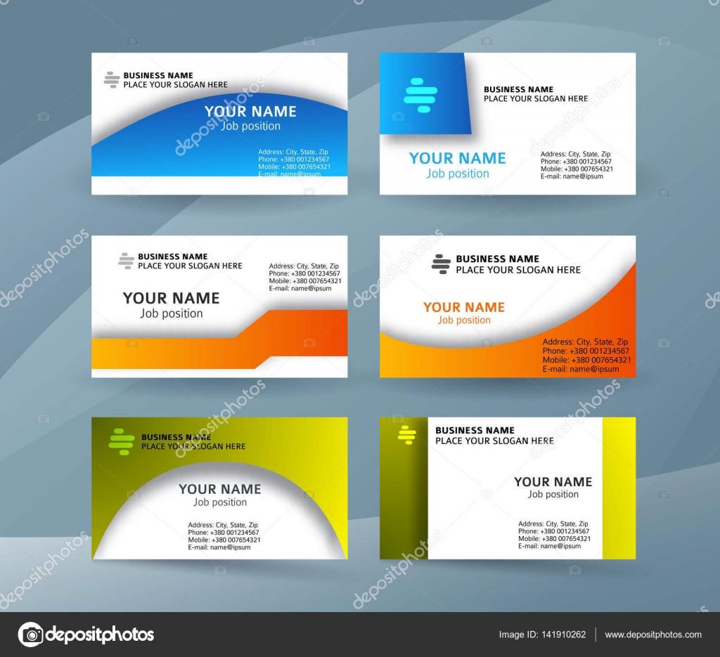 Eingestellte Vorlage Visitenkarte Layout Sided02