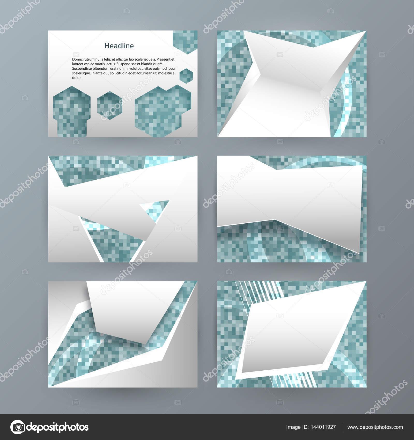 Festlegen Von Vorlagen Horizontale Präsentationsbroschüre