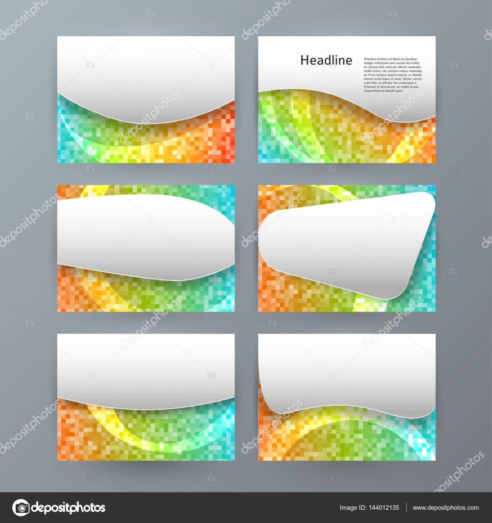Set Templates Horizontal Presentation Brochure Powerpoint Slide0