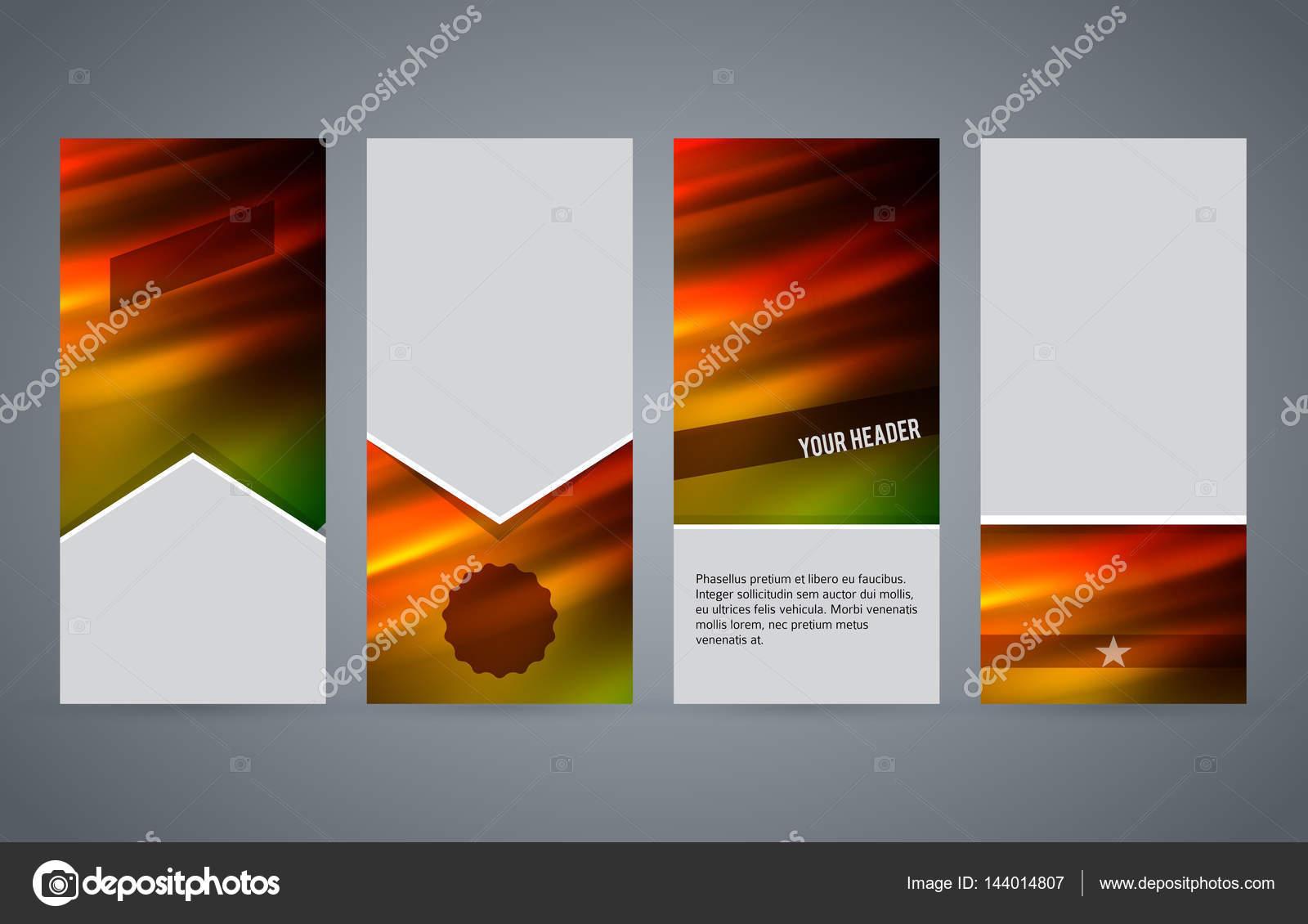 modelos de conjunto vertical flyer layout brilho quente effect02