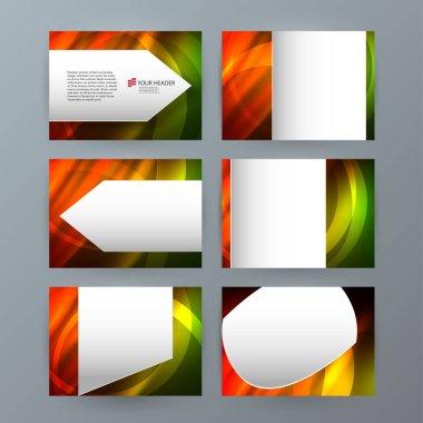 set templates horizontal presentation brochure powerpoint slide1