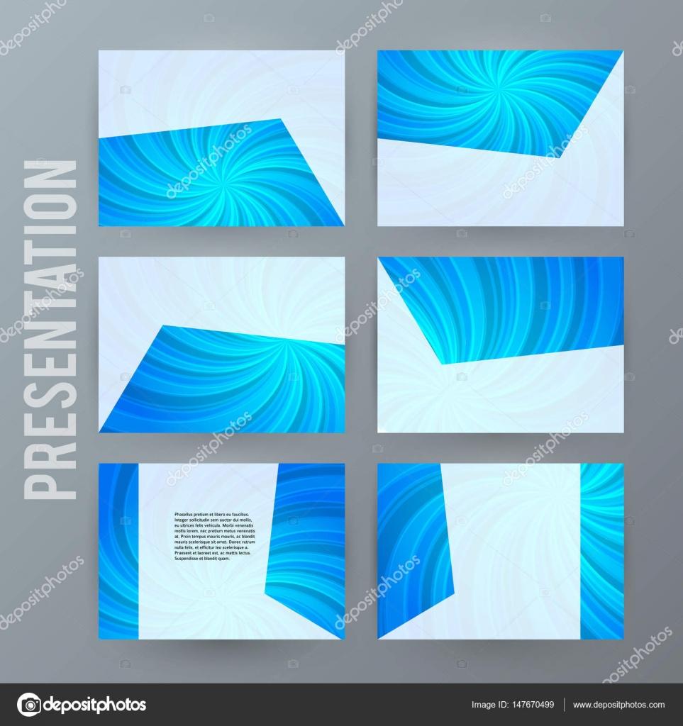 Powerpoint Arka Plan Blue02 Için Sunu şablonu Stok Vektör