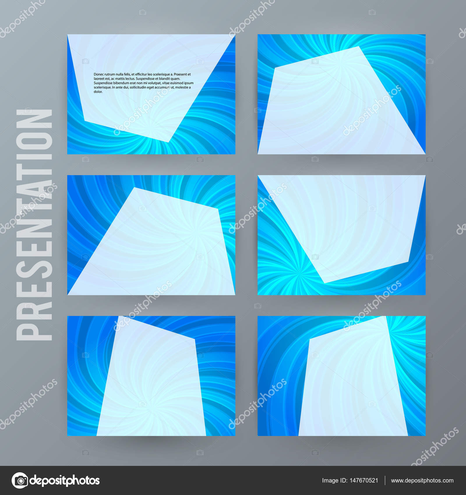 プレゼンテーションのテンプレートを powerpoint の背景 blue05 セット