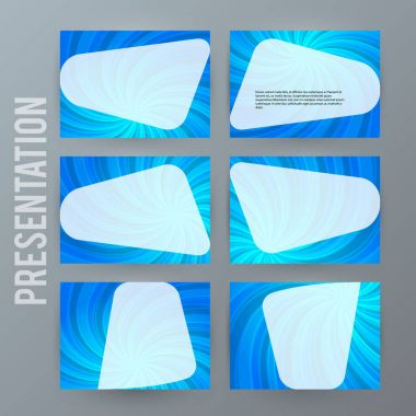 Presentation template set for powerpoint background blue08