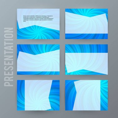 Presentation template set for powerpoint background blue11