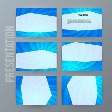 Presentation template set for powerpoint background blue13