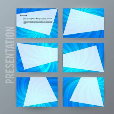 Presentation template set for powerpoint background blue17