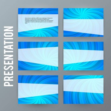 Presentation template set for powerpoint background blue19