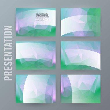 Design element powerpoint precentation template horizontal banne
