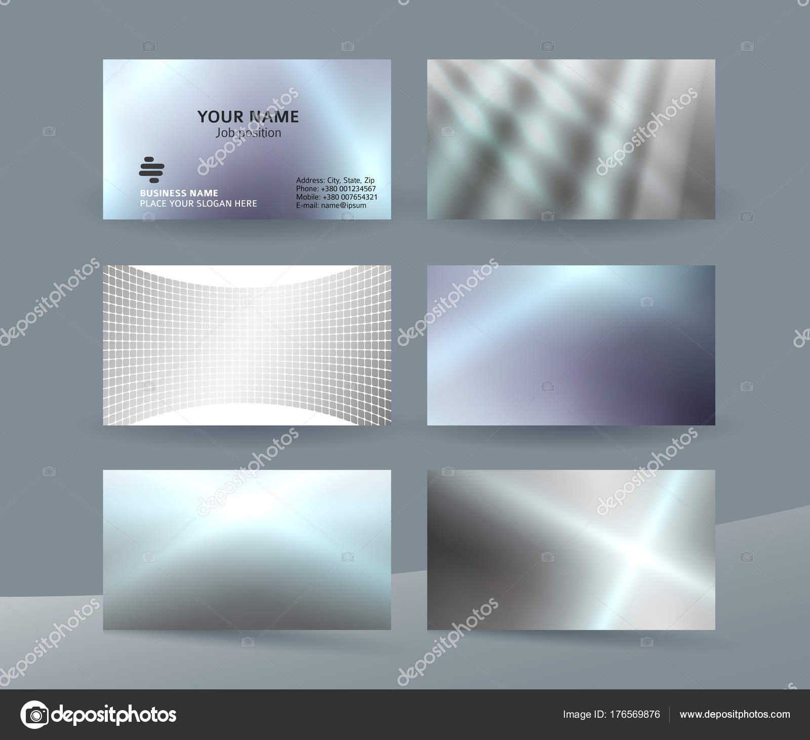 Business Card Set Background Design For Corporate Style07