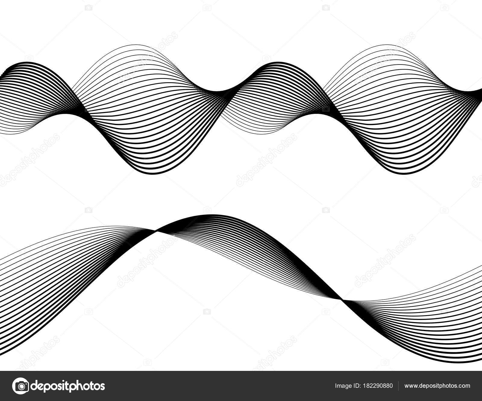 Line The Art Element : Design element wave many parallel lines wavy from thin to thick0